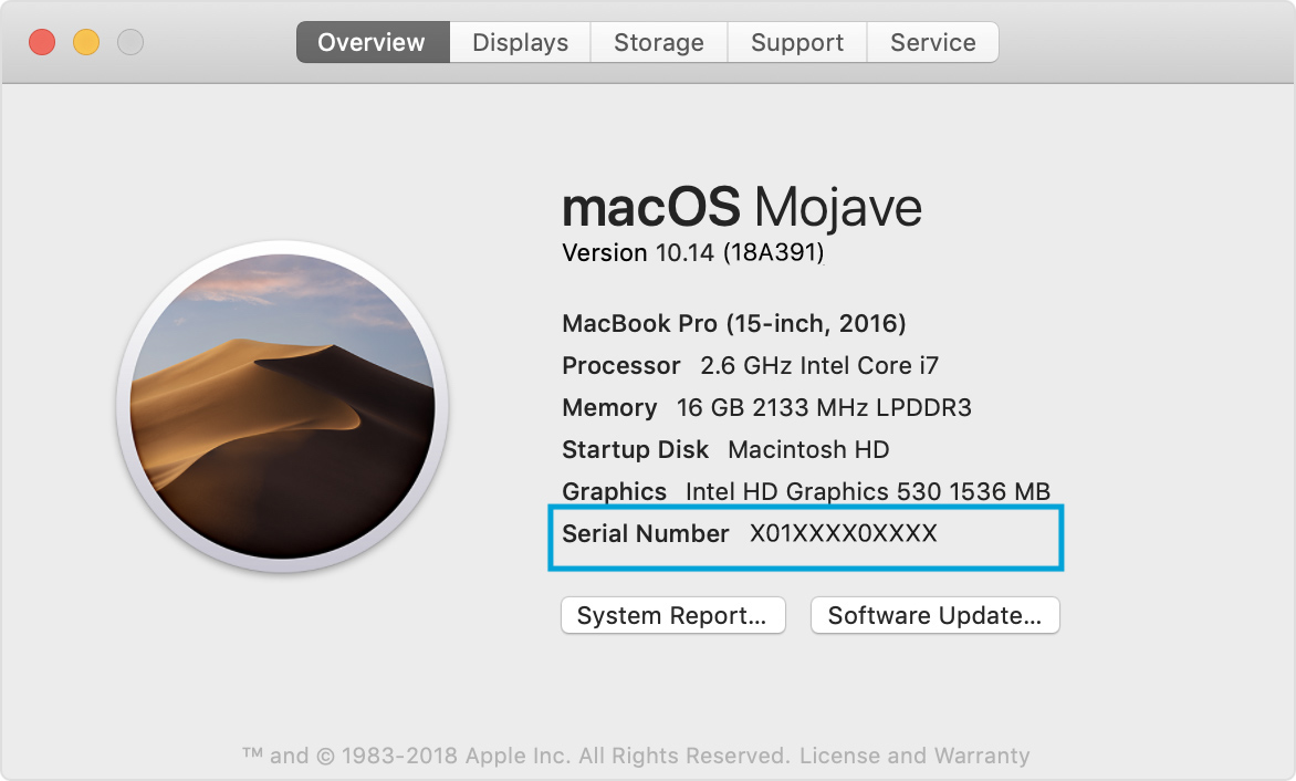 mac serial number check stolen